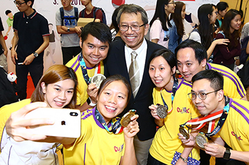 CUHK Hosts Celebration Party in Recognition of the Outstanding Achievement of Students and Alumni in the Asian Games